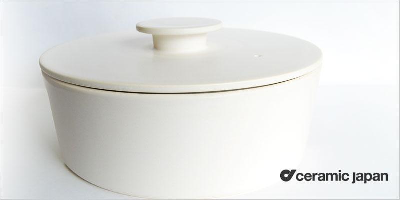 Ceramic Japan do-nabe 190 IH非対応 土鍋 19cm【セラミックジャパン ドウナベ 土鍋 鍋 蓋付き両手鍋 ギフト キッチン 食器 デザイナーズ 結婚祝い】