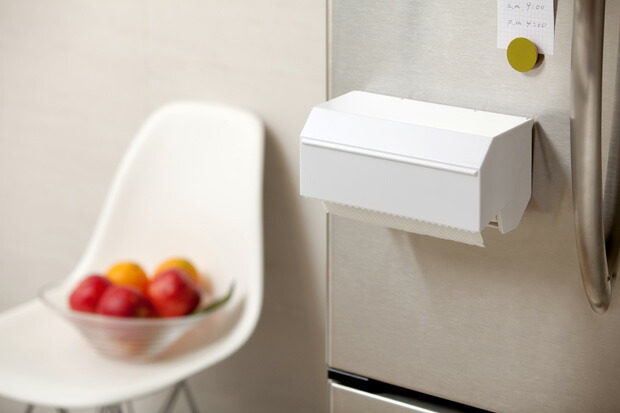 ideaco  キッチンタオルディスペンサー 【イデアコ キッチンペーパー 収納 デザイン 雑貨 キッチン 小物 磁石 ケース】