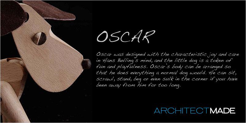 Architect MADE (アーキテクトメイド)  オスカー 【Oscar 犬 木 おもちゃ オブジェ 置き物 コペンハーゲン ヨーロッパ 北欧 デザイン】