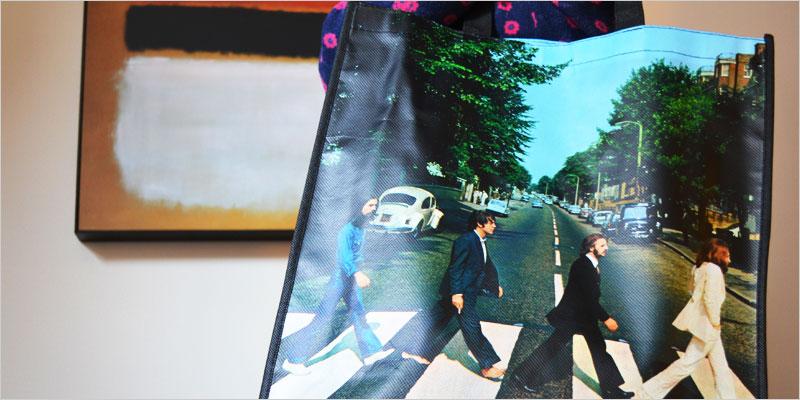ビートルズ アビー・ロード エコバッグ【The Beatles トートバッグ 環境 エコ ショッピングバッグ カバン 鞄】