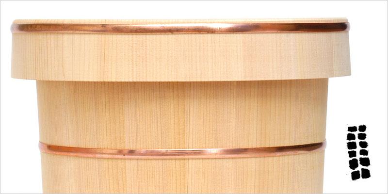 東屋 お堰 三合 【東屋 収納 お米 米 ご飯 ごはん おひつ 保管 保存 容器 キッチン料理 木製 木】