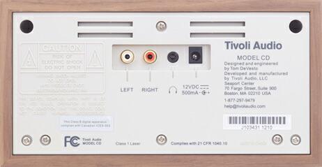 チボリオーディオ CDプレーヤー Model CD【Tivoli モデルシーディー スロットローディング】