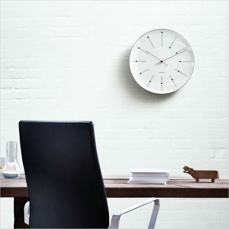 アルネ・ヤコブセン バンカーズクロック 掛け時計 ARNE JACOBSEN Wall Clock Bankers 壁掛け時計 インテリア 北欧デザイン デザイナーズ クロック ウォールクロック 時計 モダン 建築
