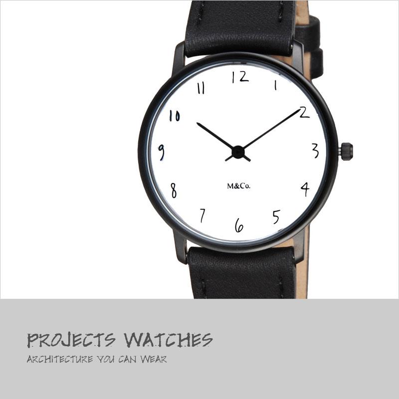 M&Co 腕時計 7406 Scratch ユニセックス 【スクラッチ ティボール・カルマン Tibor Kalman 時計 デザイナーズ デザイン リストウォッチ】
