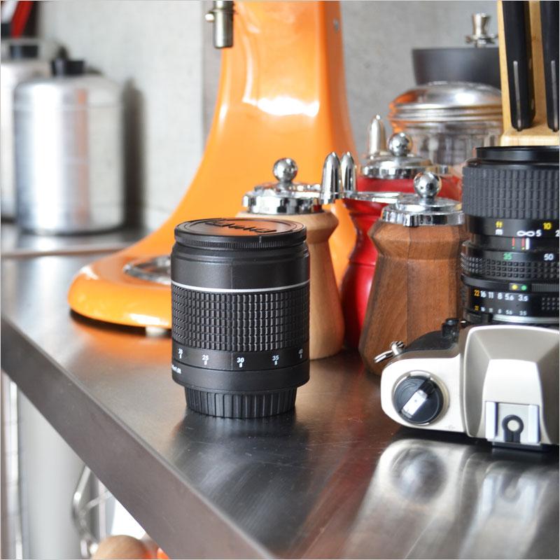 Gama-Go カメラレンズ キッチンタイマー【カメラ 望遠レンズ キッチン雑貨 キッチンタイマー タイマー キッチンツール 雑貨 小物】