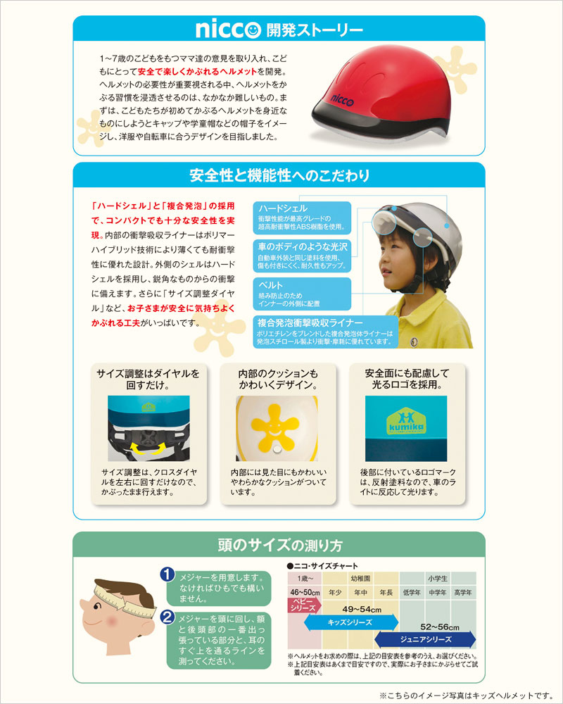 nicco ベビーヘルメット ヘルメット