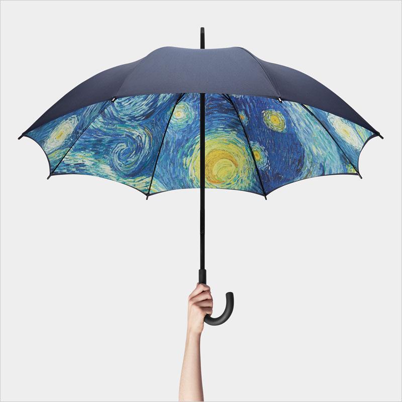 MoMA スターリーナイト アンブレラ 長傘 ゴッホ かさ 傘 The Starry Night 星月夜 スターリー・ナイト 雨傘 ニューヨーク近代美術館 モマ 梅雨