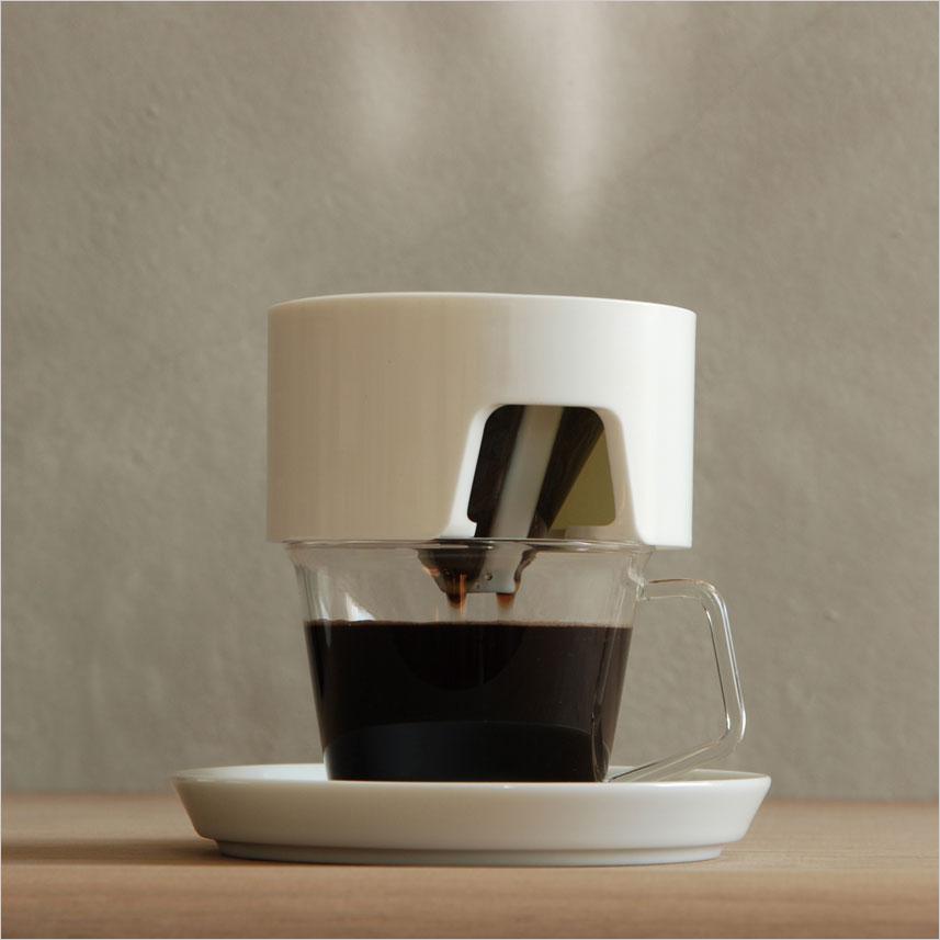 KINTO COLUMN コーヒードリッパー ホワイト キントー コラム WH 一人用 1人用 1杯 ドリップ ドリップ式 ティー お茶