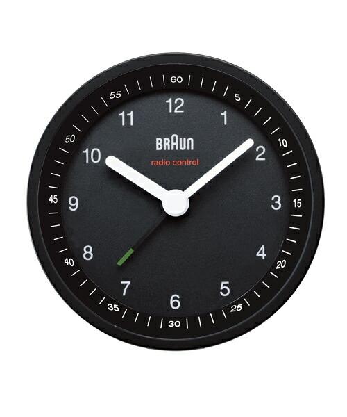 ブラウン BNC007 BNC007BKBK ブラック ブラック 掛け時計 BRAUN Radio controlled Alarm Clock 壁掛け時計 時計 ウォールクロック モダン デザイン デザイナーズ MoMA ドイツ ヨーロピアン