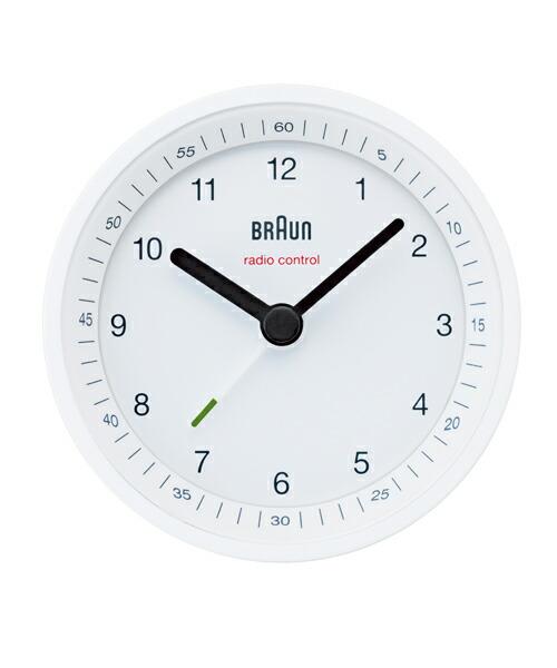 ブラウン BNC007 BNC007WHWH ホワイト アラームクロック BRAUN Radio controlled Alarm Clock 電波時計 目覚まし時計 置き時計 時計 テーブルクロック モダン デザイン デザイナーズ ドイツ ヨーロピアン