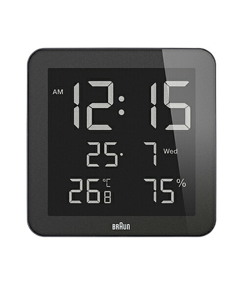 ブラウン BNC014BK-NRC ブラック デジタル掛け時計 BRAUN Wall Clock 壁掛け時計 時計 ウォールクロック モダン デザイン デザイナーズ MoMA ドイツ ヨーロピアン
