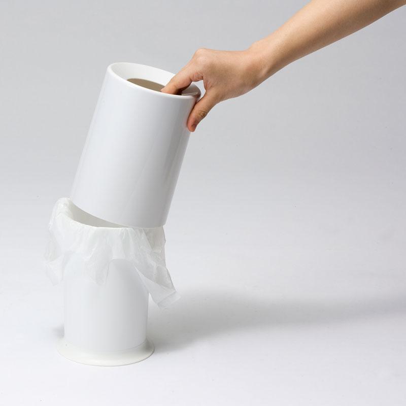 ideaco mini TUBELOR ゴミ箱 【イデアコ ミニチューブラー 雑貨 インテリア 収納 トラッシュボックス トラッシュカン ごみ箱】