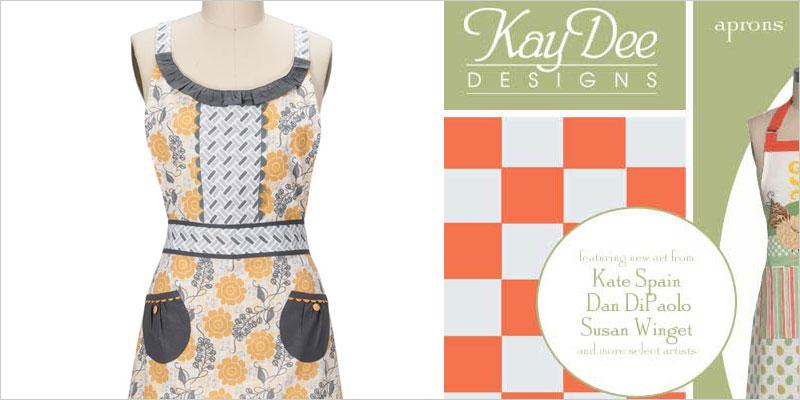 Kay Dee Design ケイディーデザイン ビンテージ レトロ エプロン セレブ キッチン雑貨