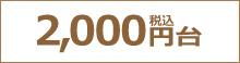 2,000円(税込)台