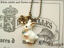 "The ""ship to"" rabbit necklace / stone Kirari! White Rabbit rock flower プチネックレス 5102P06jul13"