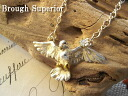 "鳩(ハト), a symbol of peace ""ship to"" pigeon pigeon necklace and greatly expanded the feather necklace 11502P04Aug13"