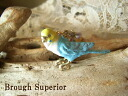 《 delivery possible 》 Blue bird of the color of the sky in co-の necklace / sky, necklace 11505P05July14 of a real parakeet