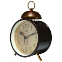 CAPITO SINGLE BELL single bell (brown X bronze) alarm clock (alarm clock, めざまし clock, table clock)