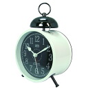 CAPITO SINGLE BELL.haha ( White x black ) alarm clock alarm clock, alarm clock, table clock fs3gm