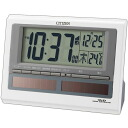 Pal digit solar R125 white 8RZ125-003 alarm clock, めざまし clock, radio time signal, alarm clock, Citizen fs3gm belonging to citizen, electric wave alarm clock (digitally) calendar indication right field