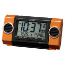 Citizen, electric wave alarm clock pal digit battle R135 orange 8RZ135-014 alarm clock, めざまし clock, radio time signal, Citizen