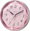 "It is [4SE546DA13] (pink) rhythm clock Daily quartz めざまし clock ""ジュエレット"""