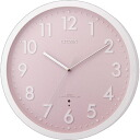 Citizen, electric wave wall clock Shin pull mode rook (pink) [8MY476-013]