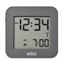 BRAUN / digital clock BNC008 grey fashion radio clock vertical:57.5mm horizontal:57.5mm
