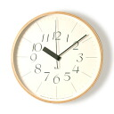 Good design award-winning Riki リキクロック M size 0710 (radio clock) (small type) clock ( clock )