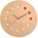 Asahikawa craft workshop cosine (cosine) wooden clock CW-01CM clock (color)