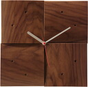 Asahikawa craft workshop cosine (cosine) wooden clock CW-06CW clock (Walnut material )