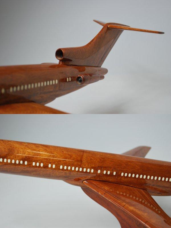 手工制作的木制模型飞机波音b727 boeing727_001 *模型*