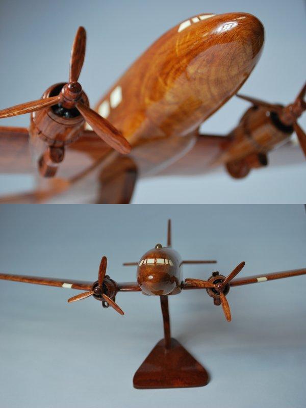 手工制作的木制模型飞机道格拉斯
