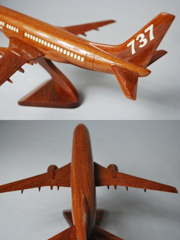 手工木制模型飞机波音