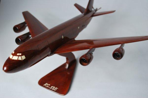 手工木制模型飞机 kc135