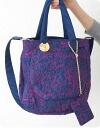 Tsumori Chisato Carrie Oden embroidery nylon tote bag (2-)