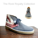 The Rock Royalty Collection SEX PISTOLS Clarks desert boots Union Jack Clarks Originals Desert Boot Union Jack Blue Canvas Print