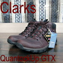 Clarks men's casual Quantock up GTX Clarks Quantock UP GTX Dark Brown Leather