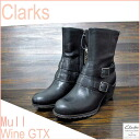 Kulaki women casual circle wine GTX Clarks Casual Mull Wine GTX Black Leather