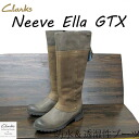 Clarks Womens casual ニーブエラ GTX Clarks Casual Neeve Ella GTX Dark Grey Leather