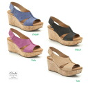 Platform Sandals Clarks perfect music wedge sole sandal Spring / Summer 2014 7.5 cm. Wedge Sole Sandal, Clarks Perfect Music on weekdays in order to 1:00 PM same day delivery