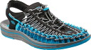 Keen men's unique Keen Mens UNEEK 1013085 BLACK/BLUE DANUBE sports Sandals for
