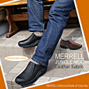 Point 10 x Merrell jungle MOC leather Merrell Jungle Moc Leather 2Colors Black, Dark Brown, men's outdoor sneakers