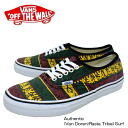 Vans sneakers /Vans sneakers オウセンティック ( Vandoren ) raster tribal surf canvas AUTHENTIC (VAN DOREN) Rasta Tribal Surf
