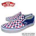 Vans sneakers slip on Vandoren true blue Checker canvas Vans sneakers SLIP ON (VAN DOREN) TRUE BLUE /CHECKER