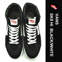 Vans high top black スケートハイ black ヴァンズスケート Shoes Sneakers VANS SK8 HI Black/White