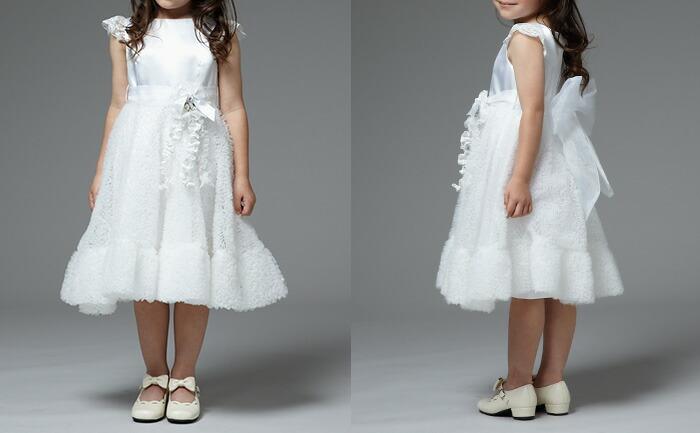 CHOPIN ショパン 女の子 天使みたいな白ワンピースドレス