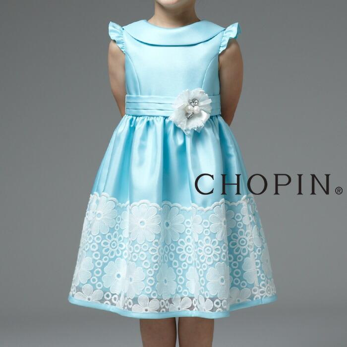 CHOPINショパン女の子大輪の花柄刺繍が可愛いワンピースドレス