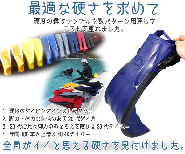 【フィン】最適なフィンの硬さを求めて
