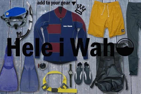 Hele i Waho (ヘレイワホ) / ウェットスーツで作ったジャケット(タッパー)フロントジップをあたなのマリンギアに